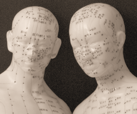 Acupressure Points Male and Female models