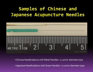 Compare between Chinese and Japanese Acupuncture Needles